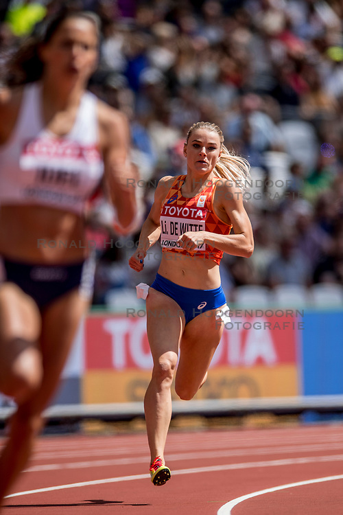 06-08-2017 IAAF World Championships Athletics day 3, London<br /> Lisanne de Witte NED 400m