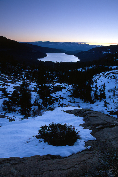 &quot;Donner Lake Sunrise 5&quot;- This sunrise was photographed from the west end of Donner Lake, facing toward the town of Truckee, CA.<br />