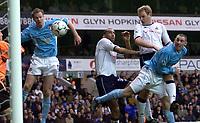 Photo. Aidan Ellis<br />Tottenham Hotspur v Sunderland . Barclaycard Premiership. 08/02/2003<br />Spurs Gary Doherty heads the second goal home