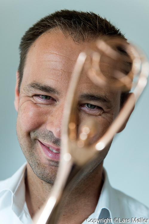 DK Caption:<br /> 20140822, K&oslash;benhavn,  Danmark:<br /> Alexander Peitersen, Direkt&oslash;r i Reputation (Reklameburaeu) med en af de priser de har vundet<br /> Foto: Lars M&oslash;ller<br /> UK Caption:<br /> 20140822, Copenhagen, Denmark: Alexander Peitersen, CEO in Reputation Advertising Agency. With one of the awards they have won over time<br /> Photo: Lars Moeller