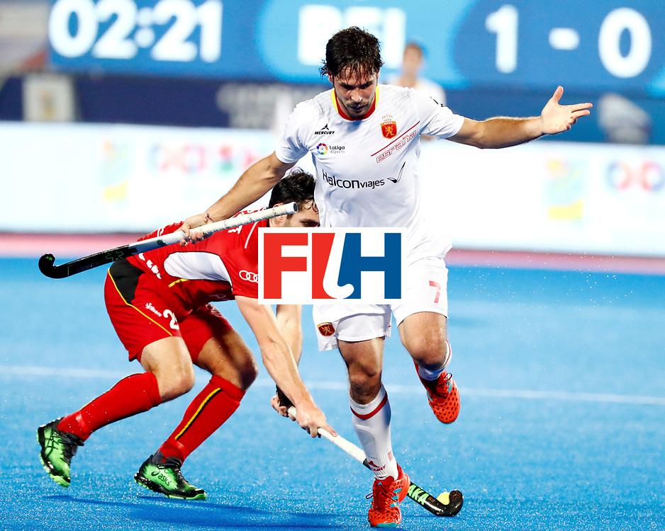 Odisha Men's Hockey World League Final Bhubaneswar 2017<br /> Match id: 18<br /> Belgium v Spain<br /> Foto: Pau Quemada (Esp)  <br /> COPYRIGHT WORLDSPORTPICS KOEN SUYK