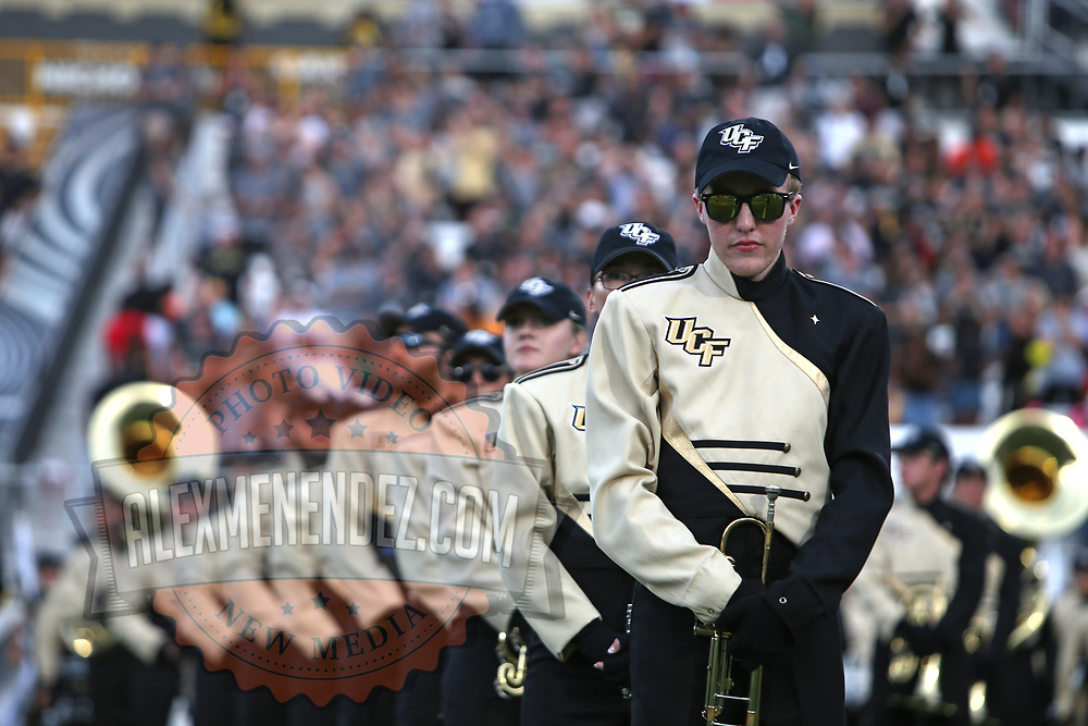 ORLANDO, FL - AUGUST 29: Members of the UCF band are seen during a NCAA football game between the Florida A&M Rattlers and the UCF Knights on August 29 2019 in Orlando, Florida. (Photo by Alex Menendez/Getty Images) *** Local Caption ***