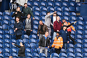 West Bromwich Albion fans taunt the Millwall fans during the EFL Sky Bet Championship match between West Bromwich Albion and Millwall at The Hawthorns, West Bromwich, England on 22 September 2018.
