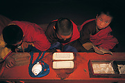Monks morning chanting<br /> Choibalsan Monastery<br /> Eastern Mongolia