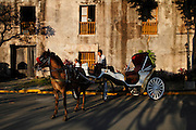 Philippines, Manilla, Horse and cart in Intramuros historical and colonial district.<br />