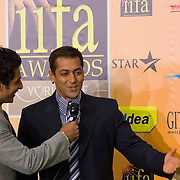 SHEFFIELD, UNITED KINGDOM - 9th June 2007: Bollywood actor Salman Khan at International Indian Film Academy Awards (IIFAs) at the Sheffield Hallam Arena on June 9, 2007 in Sheffield, England.