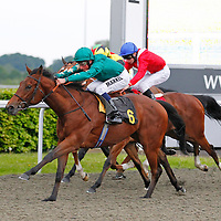 Princess Noor and William Buick winning the 7.25 race