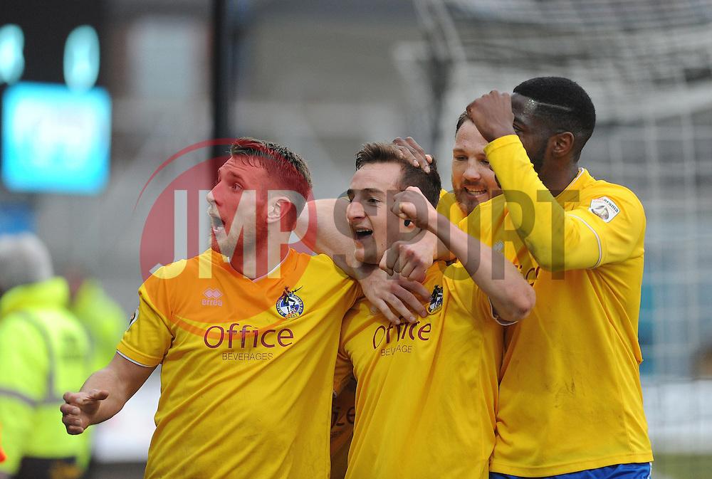 Bristol Rovers' Tom Lockyer celebrates his goal  - Photo mandatory by-line: Neil Brookman/JMP - Mobile: 07966 386802 - 14/02/2015 - SPORT - Football - Cleethorpes - Blundell Park - Grimsby Town v Bristol Rovers - Vanarama Football Conference