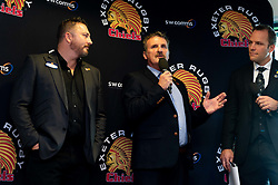 SW Comms Representatives talks in the Chiefs Suite prior to kick off - Mandatory by-line: Ryan Hiscott/JMP - 19/10/2019 - RUGBY - Sandy Park - Exeter, England - Exeter Chiefs v Harlequins - Gallagher Premiership Rugby