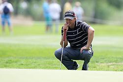 26.06.2015, Golfclub München Eichenried, Muenchen, GER, BMW International Golf Open, Tag 2, im Bild Retief Goosen (RSA) beim lesen der Puttlinie // during day two of the BMW International Golf Open at the Golfclub München Eichenried in Muenchen, Germany on 2015/06/26. EXPA Pictures © 2015, PhotoCredit: EXPA/ Eibner-Pressefoto/ Kolbert<br /> <br /> *****ATTENTION - OUT of GER*****