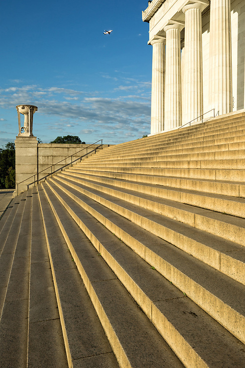 Lincoln Memorial detail, steps & columns