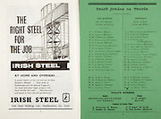 All Ireland Senior Hurling Championship Final,.01.09.1963, 09.01.1963, 1st September 1963,.Minor Wexford v Limerick, .Senior Kilkenny v Waterford, Kilkenny 4-17 Waterford 6-08,..Irish Steel, Irish steel holding ltd Hawlbowline co Cork, ...Wexford,.Byrne, Hartley, Nolan, O'Connor, Murphy, Kinsella, Staples, Bernie (Capt), Rafferty, Dowdall, Doran,  Swords, Carley, Barron, Quigley, Reck, Mooney,  Gaul, Rossiter, Power, ...Limerick,.Dunworth, O'Brien, Egan, O'Shaughnessy, Heffernan, McAuliffe, O'Brien, Roche, Cregan (Capt), Danaher, Savage, Graham, Geary, Cosgrave, Cobbe, Grimes,  O'Gorman, Nash, Bennis, Frost,