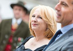 28.07.2016, Residenzplatz, Salzburg, AUT, Salzburger Festspiele, Eroeffnungsakt, im Bild Nationalratspraesidentin Doris Bures (SPOe) // National Council President Doris Bures (SPOe) during the Opening Ceremony of the Salzburg Festival, it takes place from 22 July to 31 August 2016, at the Residenzplatz in Salzburg, Austria on 2016/07/28. EXPA Pictures © 2016, PhotoCredit: EXPA/ JFK