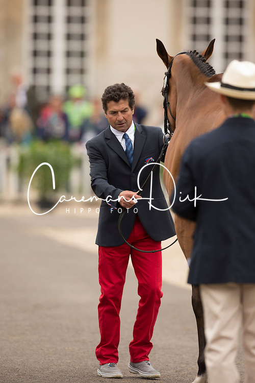 Jean Teulere, (FRA), Matelot du Grand Val - First Horse Inspection  - Alltech FEI World Equestrian Games™ 2014 - Normandy, France.<br /> © Hippo Foto Team - Dirk Caremans<br /> 25/06/14