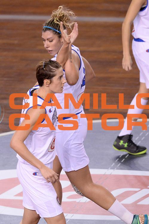 DESCRIZIONE : Lucca Nazionale Italia Femminile Qualificazione Europeo Femminile Italia Albania Italy Albania<br /> GIOCATORE : Raffaella Masciadri Alessandra Formica <br /> CATEGORIA : esultanza<br /> SQUADRA : Italia Italy<br /> EVENTO : Qualificazione Europeo Femminile<br /> GARA : Italia Albania Italy Albania<br /> DATA : 21/11/2015 <br /> SPORT : Pallacanestro<br /> AUTORE : Agenzia Ciamillo-Castoria/Max.Ceretti<br /> Galleria : FIP Nazionali 2015<br /> Fotonotizia : Lucca Nazionale Italia Femminile Qualificazione Europeo Femminile Italia Albania Italy Albania
