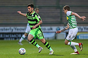 Forest Green Rovers Chris Clements(22) on the ball during the EFL Sky Bet League 2 match between Yeovil Town and Forest Green Rovers at Huish Park, Yeovil, England on 24 April 2018. Picture by Shane Healey.