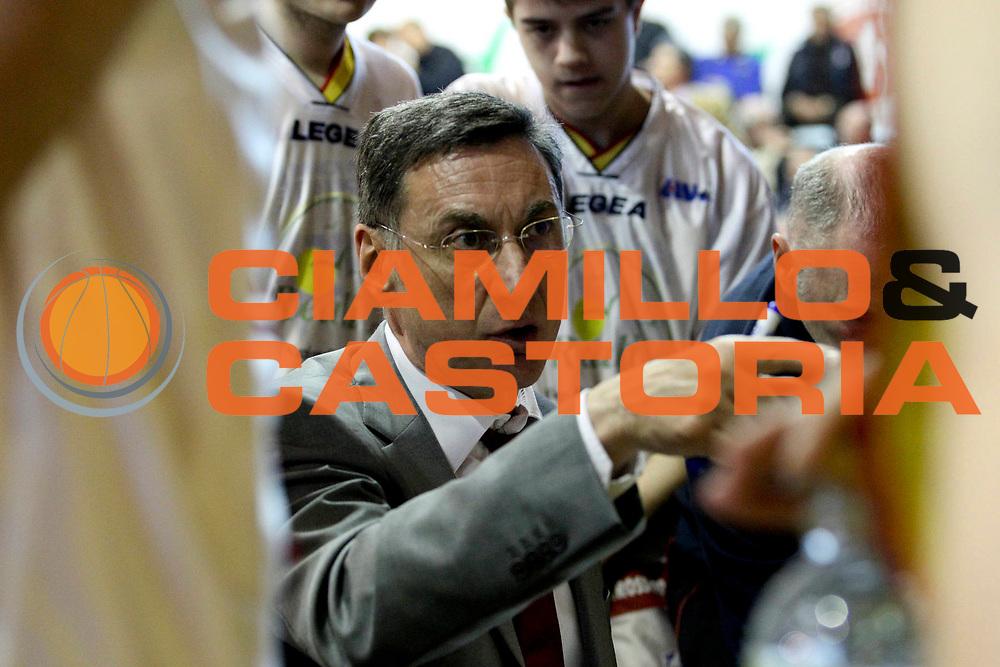 DESCRIZIONE : Ferentino Campionato Lega A2 2012-2013 Fmc Ferentino Prima Veroli<br /> GIOCATORE : Franco Marcelletti<br /> CATEGORIA : coach schema time out<br /> SQUADRA : Prima Veroli<br /> EVENTO : Campionato Lega A2 2012-2013<br /> GARA : Fmc Ferentino Prima Veroli<br /> DATA : 21/04/2013<br /> SPORT : Pallacanestro <br /> AUTORE : Agenzia Ciamillo-Castoria/N. Dalla Mura<br /> Galleria : Lega Basket A2 2012-2013 <br /> Fotonotizia : Ferentino Campionato Lega A2 2012-2013 Fmc Ferentino Prima Veroli