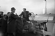 National Ploughing Championships at Tullow, Co. Carlow.  James Murphy, Carlow, winner of the Supreme Award, is congratulated..26.10.1967<br /> C923-9223