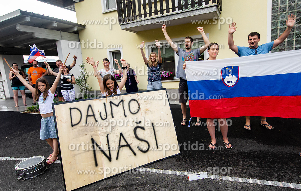Supporters during 3rd Stage of 26th Tour of Slovenia 2019 cycling race between Zalec and Idrija (169,8 km), on June 21, 2019 in Slovenia. Photo by Vid Ponikvar / Sportida