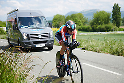 Anna Badegruber (AUT) at Emakumeen Bira 2018 - Stage 2, a 26.6 km time trial from Agurain to Gasteiz, Spain on May 20, 2018. Photo by Sean Robinson/Velofocus.com