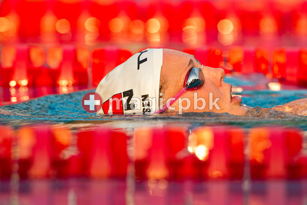 Jeanette OTTESEN of Denmark is cooling down after finishing third in the women's 100m Butterfly Final at the European Swimming Championship at the Hajos Alfred Swimming complex in Budapest, Hungary, Friday, Aug. 13, 2010. (Photo by Patrick B. Kraemer / MAGICPBK)