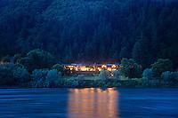Tu Tu' Tun Lodge on the banks of the Rogue River, near Gold Beach, Oregon.