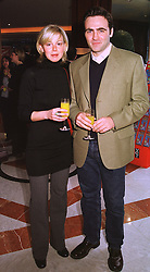 Actress DEBORAH SHERIDAN-TAYLOR and MR ADRIAN BASTICK-VITORIA, at a luncheon in London on 31st January 1999.MNR 18