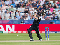 Cricket - 2019 ICC Cricket World Cup - Group Stage: England vs. NZ<br /> <br /> Mitchell Santner in action for New Zealand, at the Riverside, Chester-le-Street, Durham.<br /> <br /> COLORSPORT/BRUCE WHITE
