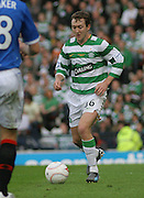 Celtic's Aiden McGeady during the League Cup final between Rangers and Celtic at Hampden Park -<br /> David Young Universal News And Sport