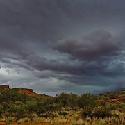Storm above Kings Canyon in Northern Territories.