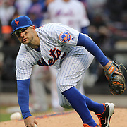 NEW YORK, NEW YORK - APRIL 08: David Wright, New York Mets, drops an infield fly ball during the New York Mets Vs Philadelphia Phillies, Mets home opener at Citi Field on April 8, 2016 in New York City. (Photo by Tim Clayton/Corbis via Getty Images)