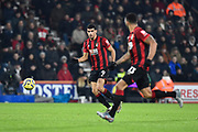 Dominic Solanke (9) of AFC Bournemouth passes the ball to Callum Wilson (13) of AFC Bournemouth during the Premier League match between Bournemouth and Brighton and Hove Albion at the Vitality Stadium, Bournemouth, England on 21 January 2020.