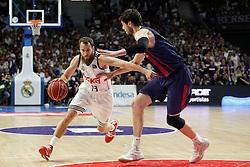 19.06.2015, Madrid, ESP, Liga Endesa, Real Madrid vs Barcelona, Finale, Spiel 1, im Bild Real Madrid&acute;s Sergio Rodriguez // during the first game of final of Liga Endesa Real Madrid vs Barcelona at Madrid, Spain on 2015/06/19. EXPA Pictures &copy; 2015, PhotoCredit: EXPA/ Alterphotos/ Victor Blanco<br /> <br /> *****ATTENTION - OUT of ESP, SUI*****