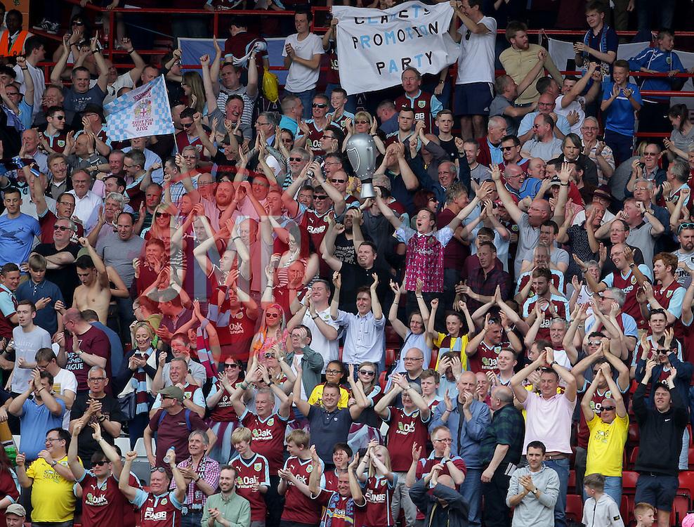 Burnley fans celebrate - Mandatory by-line: Paul Terry/JMP - 07/05/2016 - FOOTBALL - The Valley - London, England - Charlton Athletic v Burnley - Sky Bet Championship