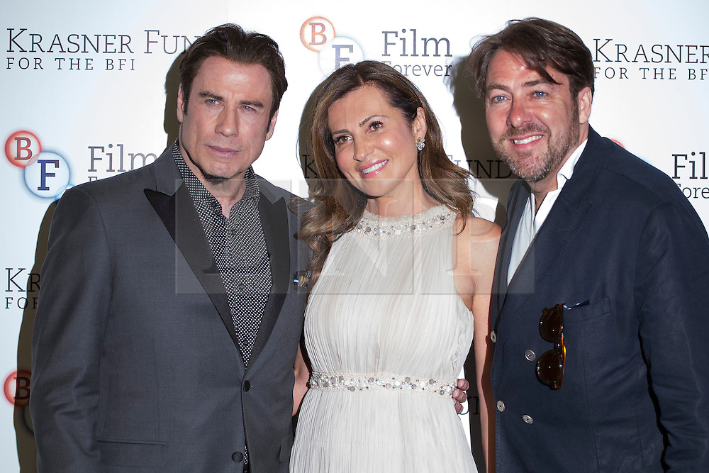 © licensed to London News Pictures. London, UK 25/06/2013. John Travolta (left), Ella Krasner (centre) and Jonathan Ross attending to the screening of 'Killing Season' to support The Krasner Fund for the BFI Collections at BFI London on Tuesday, 25 June 2013. Photo credit: Tolga Akmen/LNP