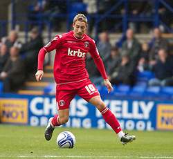 BIRKENHEAD, ENGLAND - Saturday, September 18, 2010: Charlton Athletic's Lee Martin in action against Tranmere Rovers during the Football League One match at Prenton Park. (Photo by Vergard Grott/Propaganda)