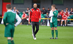 NEWPORT, WALES - Sunday, May 31, 2015: Thierry Henry gives a practical demonstration during the Football Association of Wales' National Coaches Conference 2015 at Dragon Park FAW National Development Centre. (Pic by David Rawcliffe/Propaganda)