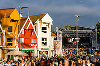 Norway, Stavanger. Tall Ships Race in Stavanger 2011. Music stage.