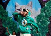 READING, ENGLAND - AUGUST 25:  Tyler the Creator of Odd Future Wolf Gang Kill Them All (OFWGKTA) performs live on the Main Stage on Day Two during the Reading Festival 2012 at Richfield Avenue on August 25, 2012 in Reading, England.  (Photo by Simone Joyner/WireImage)