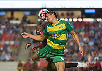 OTTAWA, ON - AUGUST 03: USL match between the Ottawa Fury FC and Tampa Bay Rowdies at TD Place Stadium in Ottawa, ON. Canada on August 3, 2018.<br /> <br /> PHOTO: Steve Kingsman/Freestyle Photography for Ottawa Fury FC