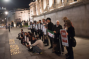 VIGIL FOR ALEPPO TRAFALGAR SQ, LONDON, MONDAY 3 OCTOBER