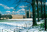 Clare College (left) and King's College Chapel (right), in Cambridge, Eastern England