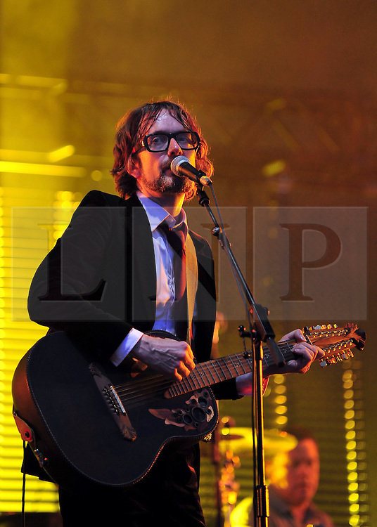 © licensed to London News Pictures. LONDON UK  03/07/11.Pulp berform at Day 3 of the Wireless Festival in Hyde Park London saw thousands of music fans enjoying the sunshine and the music . Please see special instructions for usage rates. Photo credit should read ALAN ROXBOROUGH/LNP