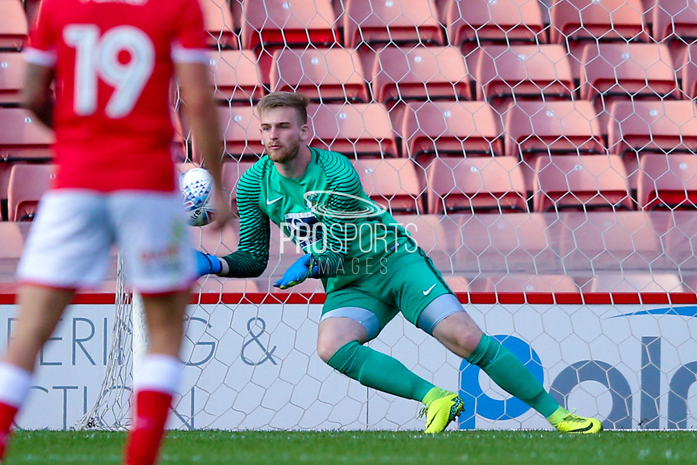 Coventry City goalkeeper Lee Burge (1) saves during the Pre-Season Friendly match between Barnsley and Coventry City at Oakwell, Barnsley, England on 18 July 2017. Photo by Simon Davies.