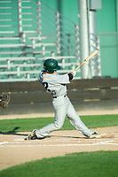 KELOWNA, BC - JULY 24: Luke Schwartz #12 of the Yakima Valley Pippins swings the bat against the the Kelowna Falcons at Elks Stadium on July 24, 2019 in Kelowna, Canada. (Photo by Marissa Baecker/Shoot the Breeze)
