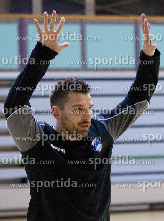 Primoz Prost during the Training Camp before IHF Men's Handball World Championship Spain 2013 on January 9, 2013 in Zrece, Slovenia. (Photo By Vid Ponikvar / Sportida.com)