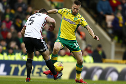 January 26, 2019 - Norwich, England, United Kingdom - NORWICH UK. 25 JANUARY Marco Steipermann of Norwich City Jack O'Connell of Sheffield United battles for possession during the Sky Bet Championship match between Norwich City and Sheffield United at Carrow Road, Norwich, England on 26th January 2019. (Credit Image: © Mark Fletcher/NurPhoto via ZUMA Press)
