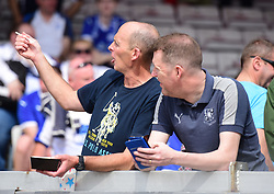 Referee Mike Dean in the away end at Lincoln City   - Mandatory by-line: Alex James/JMP - 22/04/2019 - FOOTBALL - Sincil Bank Stadium - Lincoln, England - Lincoln City v Tranmere Rovers - Sky Bet League Two