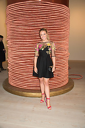 CAMILLA KERSLAKE at the opening of the exhibition Champagne Life in celebration of 30 years of The Saatchi Gallery, held on 12th January 2016 at The Saatchi Gallery, Duke Of York's HQ, King's Rd, London.