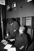 President Eamon de Valera and An Taoiseach Seán Lemass cast their votes in the General Election.<br /> 07.04.1965